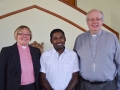 Rev. Sue Edwards, Moses John and Rev Richard Teal